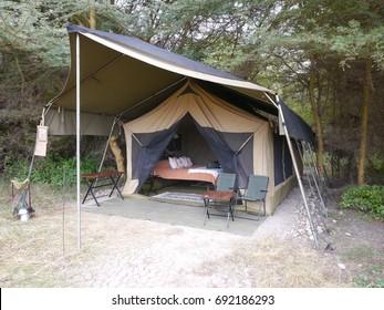 Tented camping in Amboseli, Kenya