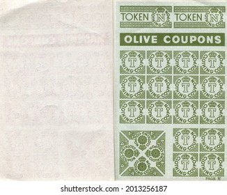 TENTERDEN, ENGLAND - JULY 23, 2021: A Second World War clothing ration coupon book. Introduced in 1941, clothes rationing was ended in 1949.