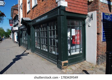 TENTERDEN, ENGLAND - MAY 31, 2020: A closed down branch of textile design chain Laura Ashley. Founded in 1953, the company entered administration in March 2020.