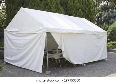 Tents For The Staffs Of The Event