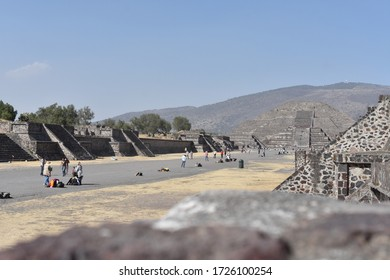 Teotihuacan State of México  / México; February 14, 2020; Roadway of the dead in San Juan Teotihuacan State of México.