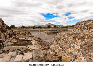 TEOTIUCAN, MEXICO - OCT 27, 2016: Teotihuacan, site of many Mesoamerican pyramids built in the pre-Columbian Americas. UNESCO World Heritage