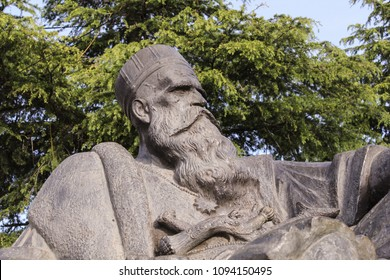 TEPELENA, ALBANIA-APR. 7, 2018:  Monument to the Ali Pasha of Ioannina an Ottoman Albanian ruler of the area from 1788 to 1822.