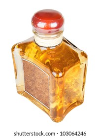 tequila bottle isolated on white