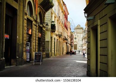 Teramo, Italy-June 28, 2013:The streets of Teramo, Abruzzo, Italy.