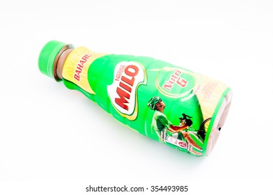 TERENGGANU, MALAYSIA - December 23rd, 2015 : A MILO in bottle also (MILO Nutri G) is the latest breakthrough product from Nestle. It perfectly blended for a delicious goodness for you.