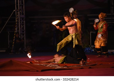TERENGGANU, MALAYSIA - OKT 24-26: Unidentified musicians play in a World Gamelan Festival on OKT 24, 2015 in Terengganu, Malaysia. (Selected Focus)
