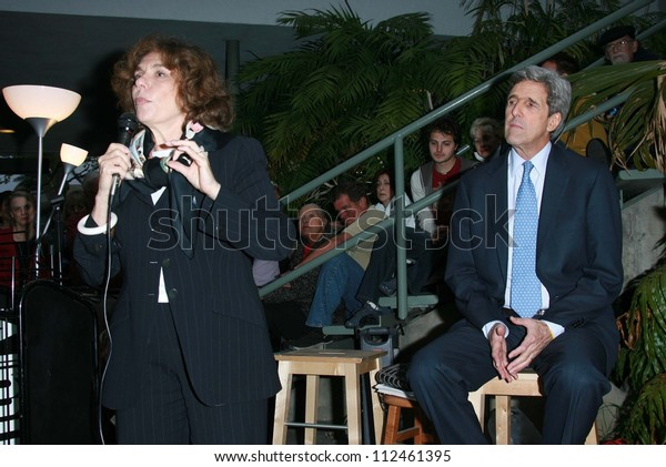 """Teresa Heinz Kerry and John Kerry at an instore event to promote the new book """"This Moment on Earth"""". Duttons Brentwood, Los Angeles, CA. 04-04-07"""