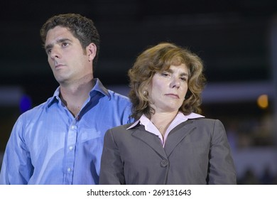 Teresa Heinz Kerry and son at the Thomas Mack Center at UNLV, Las Vegas, NV