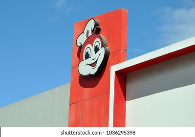 Teresa, Rizal, Philippines -  February 20, 2018: Signage of Jollibee in front of the store.