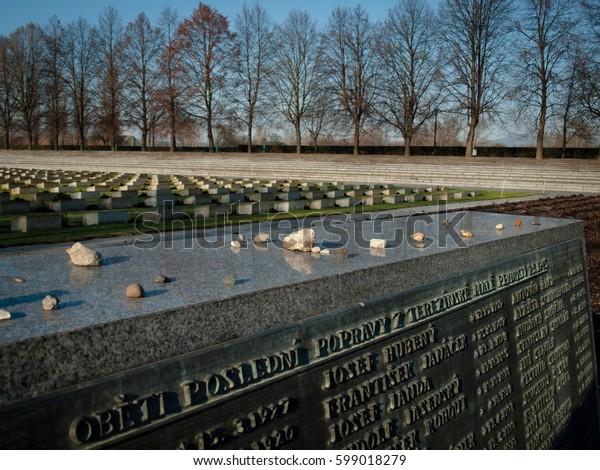 Terezin Memorial Cemetery, Czech Republic, November 27th 2010, Editorial photo