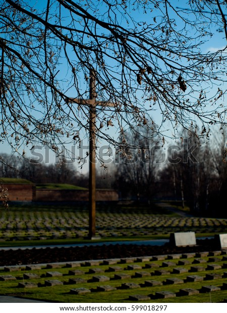 Terezin Memorial Cemetery, Czech Republic, November 27th 2010, Editorial photo