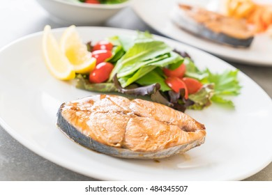 teriyaki grilled mackerel fish steak