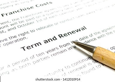 Term and renewal with wooden pen