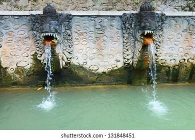 Termal Banjar Tega hot springs, North bali, Indonesia