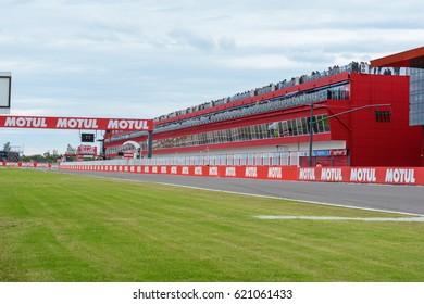 TERMAS DE RIO HONDO, ARGENTNA - APRIL 9, 2017: Racetrack Termas de Rio Hondo, MotoGP Grand Prix Motul of Republica Argentina, in Termas de Rio Hondo, Argentina.