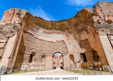 Terme di Caracalla or The Baths of Caracalla in Rome, Italy, were the city's second largest Roman public baths, or thermae,Roma, Italy,Europe