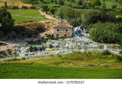 The Terme di Saturnia are a group of springs located in the municipality of Manciano, a few kilometers from the village of Saturnia.