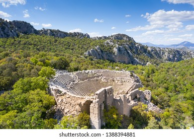 Termessos ancient city the amphitheatre. Termessos is one of Antalya -Turkey's most outstanding archaeological sites. Despite the long siege, Alexander the Great could not capture the ancient city.