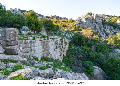 Termessos city concealed by pine forests and with a peaceful and untouched appearance, the site has a more distinct and impressive atmosphere than many other ancient cities. May 2018 Antalya-Turkiye