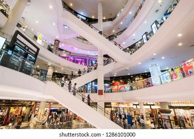the Terminal 21 Shopping Mall in Sukhumvit in the city of Bangkok in Thailand in Southeastasia.  Thailand, Bangkok, November, 2018