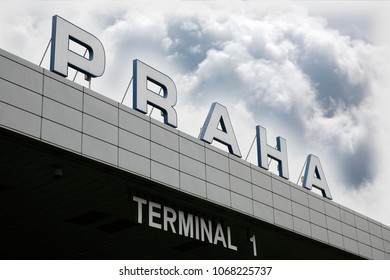 Terminal buildings of Prague Vaclav Havel Airport, international airport to serve over 13 million passengers a year