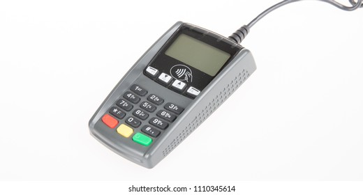 a terminal credit card machine checkout for shopping and retail concept