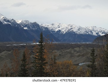 Terminal Moraine Of The Root And Kennecott Glaciers Near McCarthy Alaska