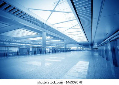 Terminal within a modern architectural style.