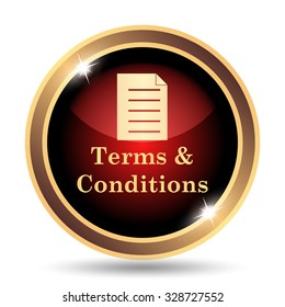 Terms and conditions icon. Internet button on white background.
