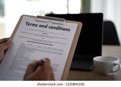Terms of use confirm terms disclaimer conditions to policy service man use pen Terms and conditions agreement or document