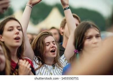 Ternopil, Ukraine 06/20/2018 faine misto festival