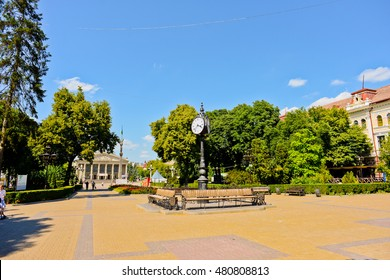TERNOPIL, UKRAINE - JULY 03: City center on July 03, 2016 in Ternopil, Ukraine