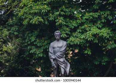 Ternopil, Ukraine - June 9, 2017: Statue of Ivan Franko Ternopil city
