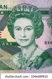 Ternopil, Ukraine - March 08, 20187: England Queen Elizabeth II banknote closeup. Queen of the United Kingdom, Canada, Australia, New Zealand.