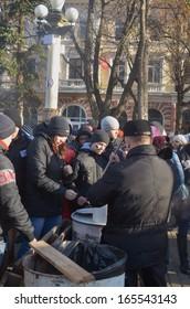 TERNOPOL, UKRAINE-DEC. 2: Ukrainian political action ''Ukraine for European Integration''. Ternopil, Ukraine. December 2, 2013.