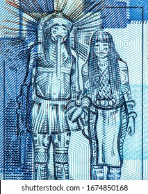 """Terra Brasilis"" map, Part of Pero Vaz de Caminha's letter, Portrait from Brazil 10 Reais 2000 Polymer Banknotes.  - Shutterstock ID 1674850168"