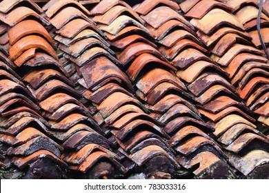 Terra Cotta roof tile background