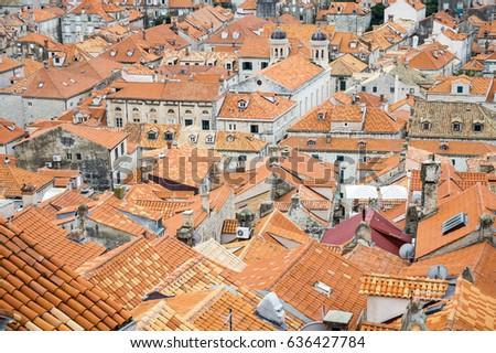 Terra Cotta Roof Tiles Fill Frame Stock Photo (Edit Now) 636427784