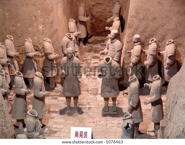 Terra Cotta Warriors on display in Xian, China