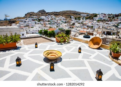 Terrace above  Lindos-Rodhes-Greece