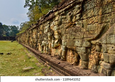 The Terrace of the Elephans, Angkor Thom, Sieam Reap, Cambodia