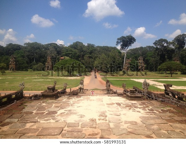 Terrace of the elephants, Angkor Thom, Siemreap