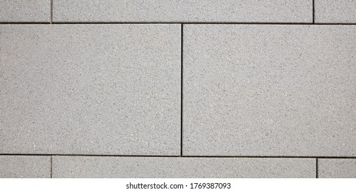 Terrace with grey paving stones