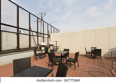 Terrace made on the building roof