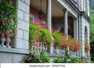 Terrace of mansion. Lucerne, Switzerland.