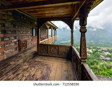 Terrace of the Naggar Castle. Himachal Pradesh, Northern India