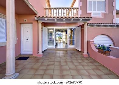 terrace near the house