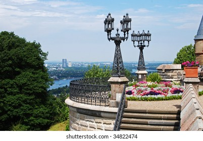 Terrace overlooking Bonn & River Rhine, Germany