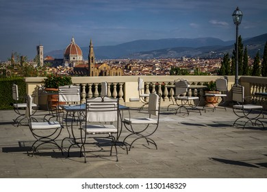Terrace overlooking the city of Florence, Italy